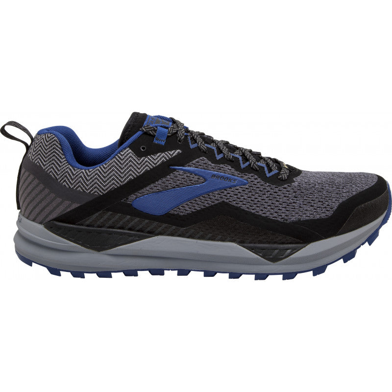 Brooks Men's Cascadia 14 Gore-Tex Trail Running Shoes Black / Grey / Blue - achilles heel