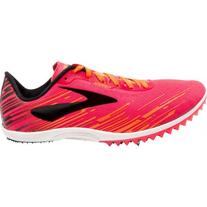 Brooks Women's Mach 18 Running Spikes Pink / Orange / Black - achilles heel