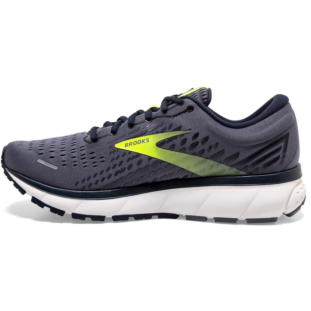 Brooks Men's Ghost 13 Running Shoes Grey / Navy / Nightlife - achilles heel