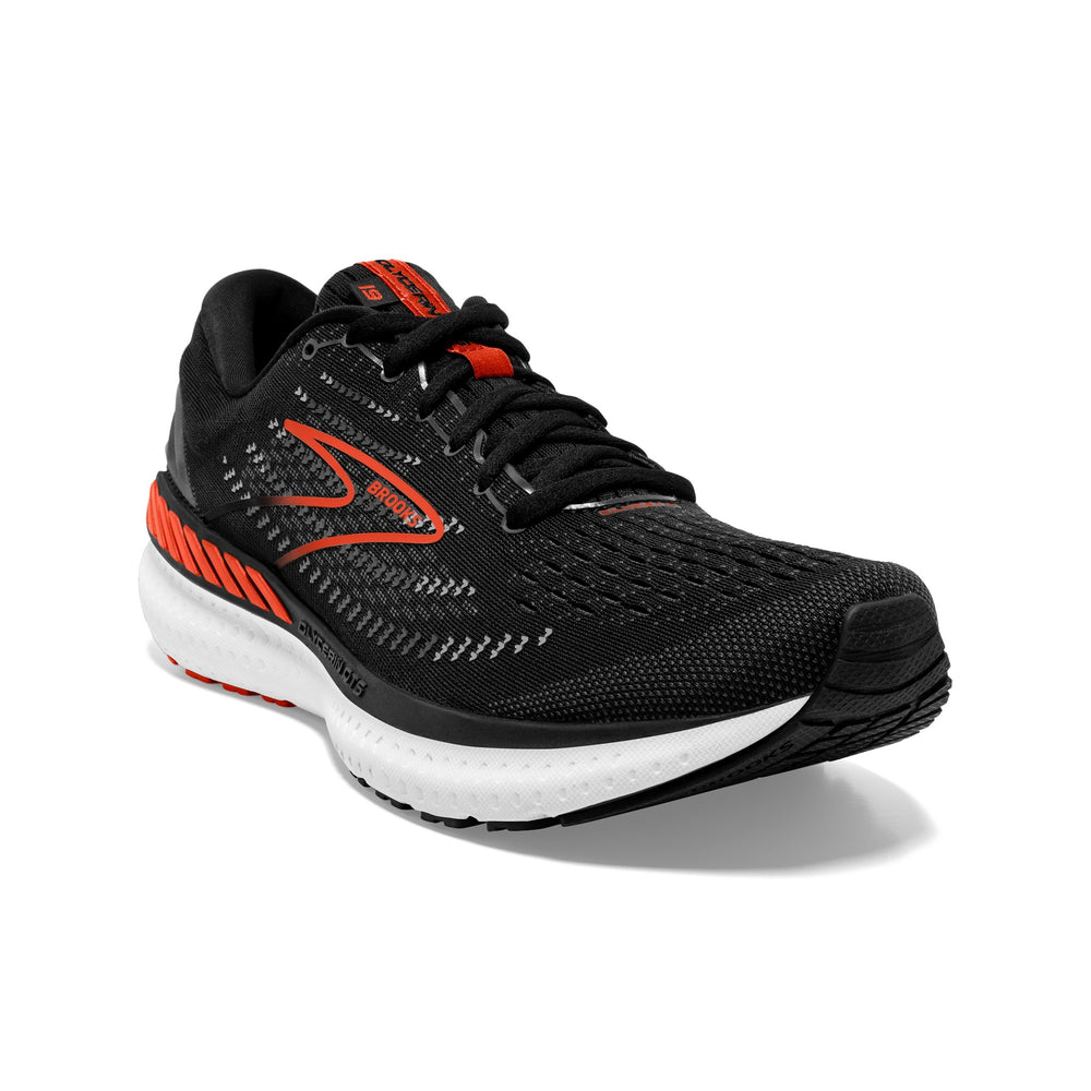 Brooks Men's Glycerin GTS 19 Running Shoes Black / Grey / Red Clay - achilles heel
