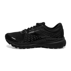 Brooks Women's Adrenaline GTS 21 Running Shoes Black / Black / Ebony - achilles heel