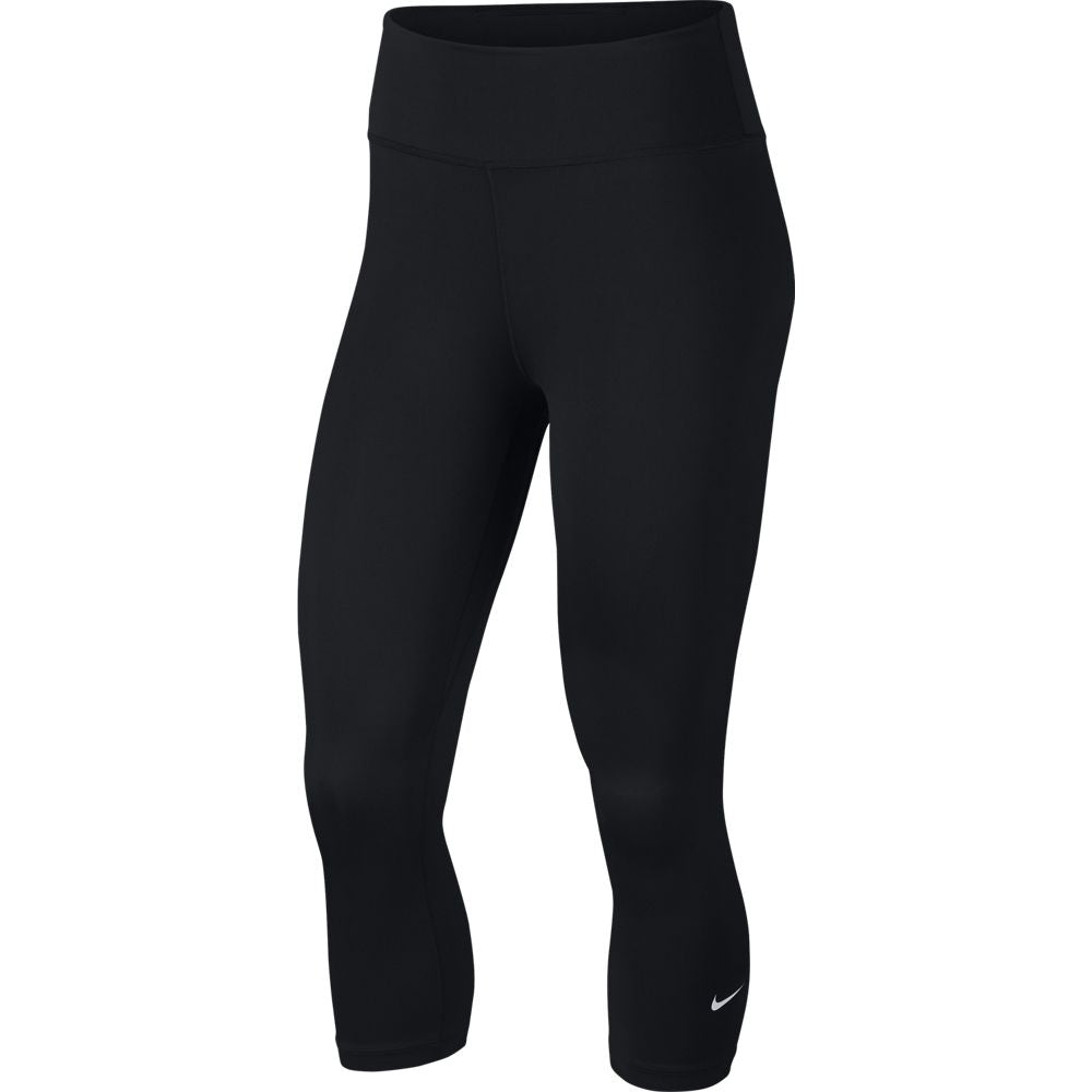 Nike Women's One Tight Capri Black - achilles heel
