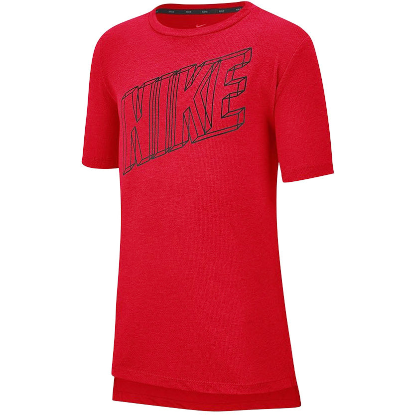 Nike Boys Breathe Tee Red / Black - achilles heel