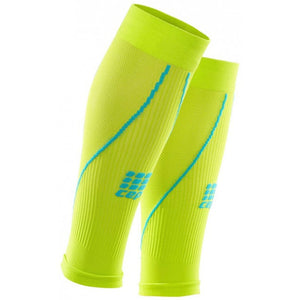 CEP Men's Compression Calf Sleeves 2.0 Lime & Hawaii Blue