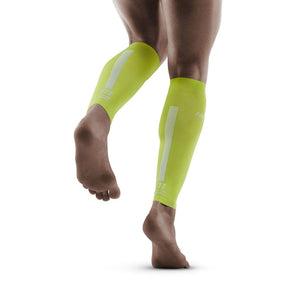 CEP Men's Compression Calf Sleeves 3.0 Lime / Grey - achilles heel