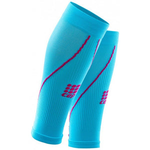 CEP Women's Compression Calf Sleeves 2.0 Hawaii Blue & Pink - achilles heel