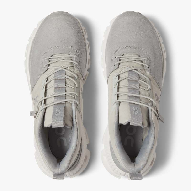 On Women's Cloud Hi Glacier / Grey - achilles heel