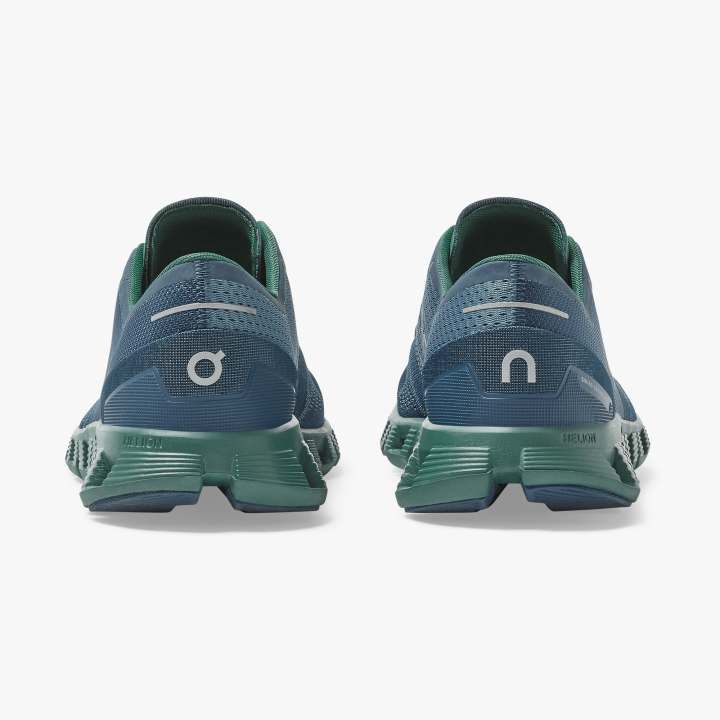 On Men's Cloud X Running Shoes Storm / Tide - achilles heel