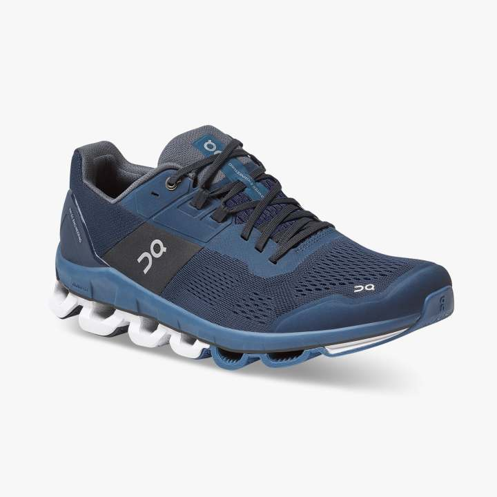 On Men's Cloudace Running Shoes Midnight / Navy - achilles heel