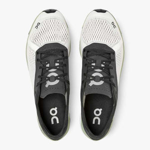 On Men's Cloudboom Running Shoes White / Black - achilles heel