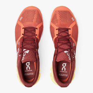 On Men's Cloudflow Running Shoes Rust / Limelight - achilles heel
