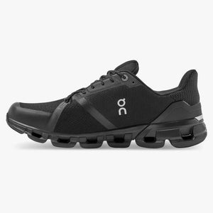 On Women's Cloudflyer Waterproof Running Shoes Black / Lunar - achilles heel