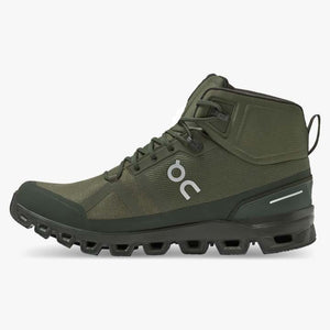 On Men's Cloudrock Waterproof Jungle / Fir - achilles heel