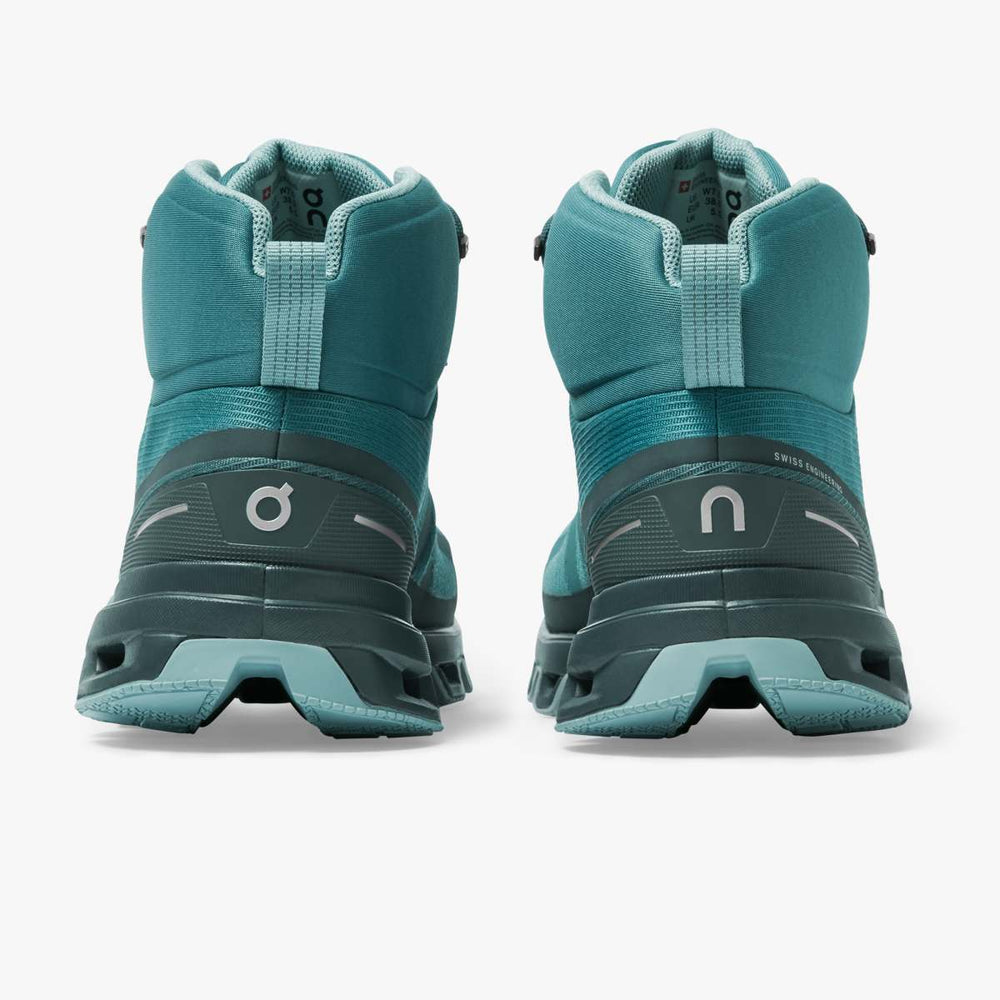 On Women's Cloudrock Waterproof Walking Boots Storm / Wash - achilles heel