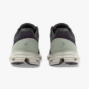 On Men's Cloudstratus Running Shoes Black / Mineral - achilles heel