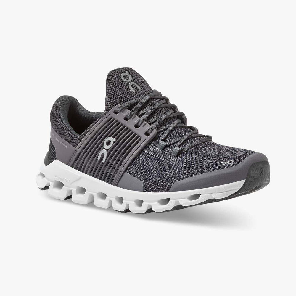 On Men's Cloudswift Running Shoes Shark / Shadow - achilles heel