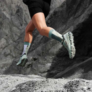 On Women's Cloudultra Trail Running Shoes Moss / Eclipse - achilles heel