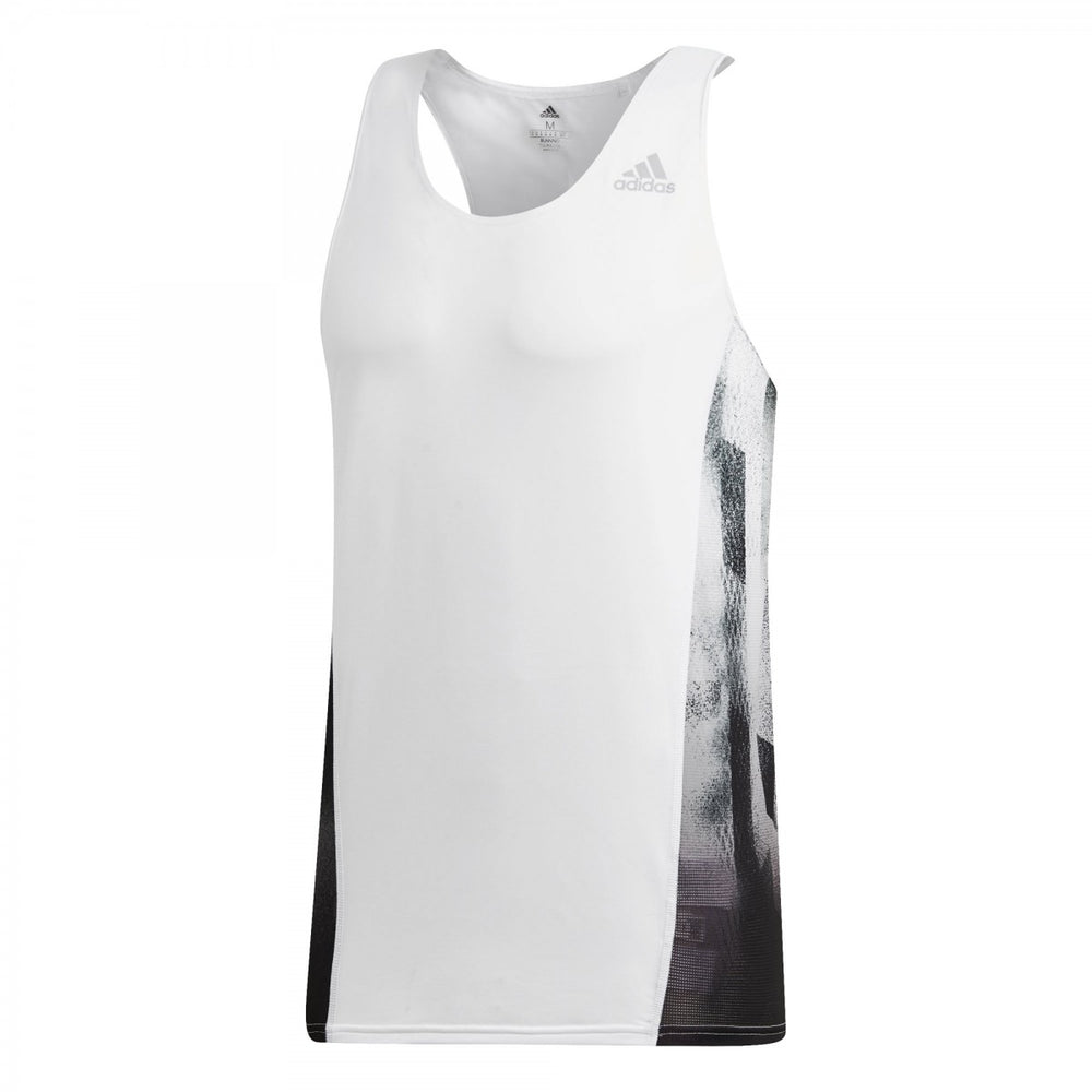 adidas Men's Sub 2 Singlet White /  Black