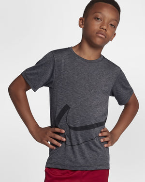 Nike Boys Dri-Fit Breathe Tee Black & Cool Grey FA18 010 - achilles heel