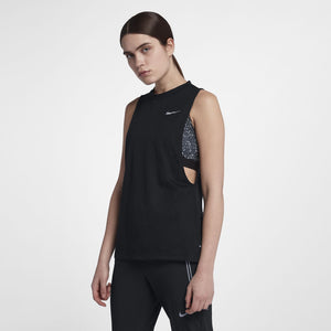 Nike Women's Tailwind Cool Tank Black SU18 010
