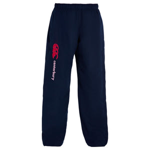 Canterbury Girls Open Hem Stadium Pant Navy & Beetroot - achilles heel