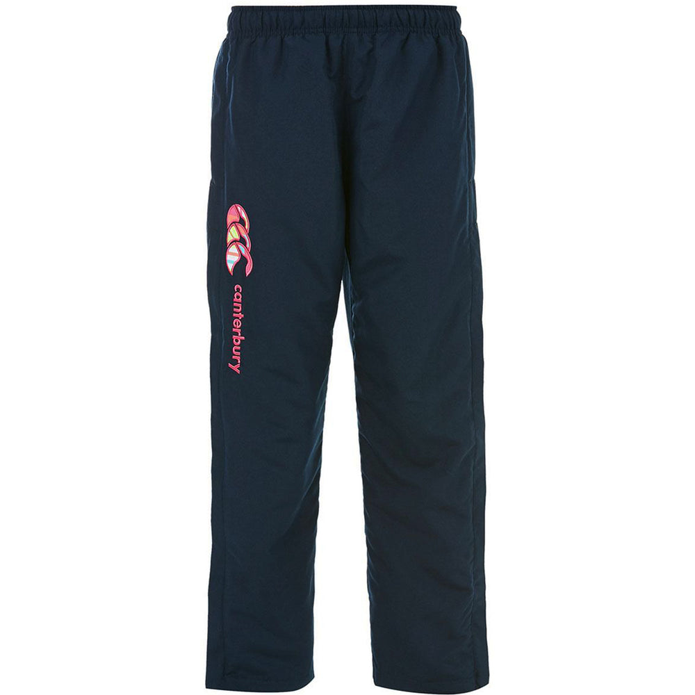Canterbury Open Hem Stadium Pant Girls Navy & Multi - achilles heel