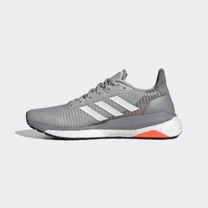 adidas Women's Solar Glide ST 19 Running Shoes Light Grey / White - achilles heel