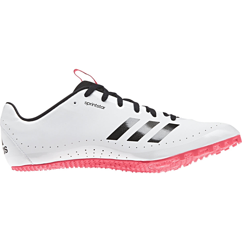 adidas Women's Sprintstar Running Spikes White /  Black  / Red - achilles heel