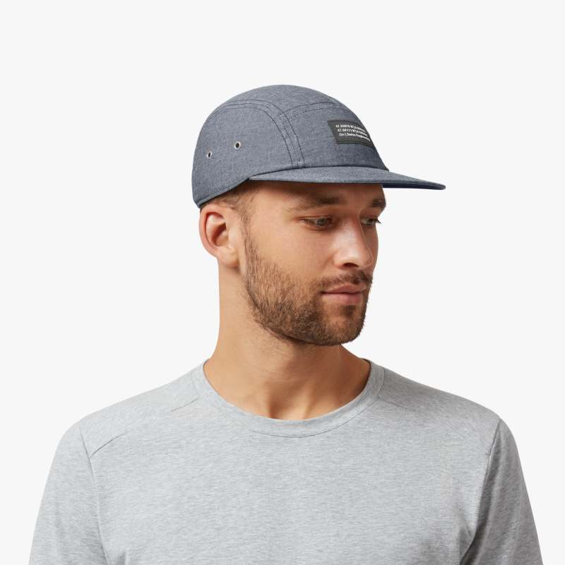 On 5 Panel Cap Navy - achilles heel