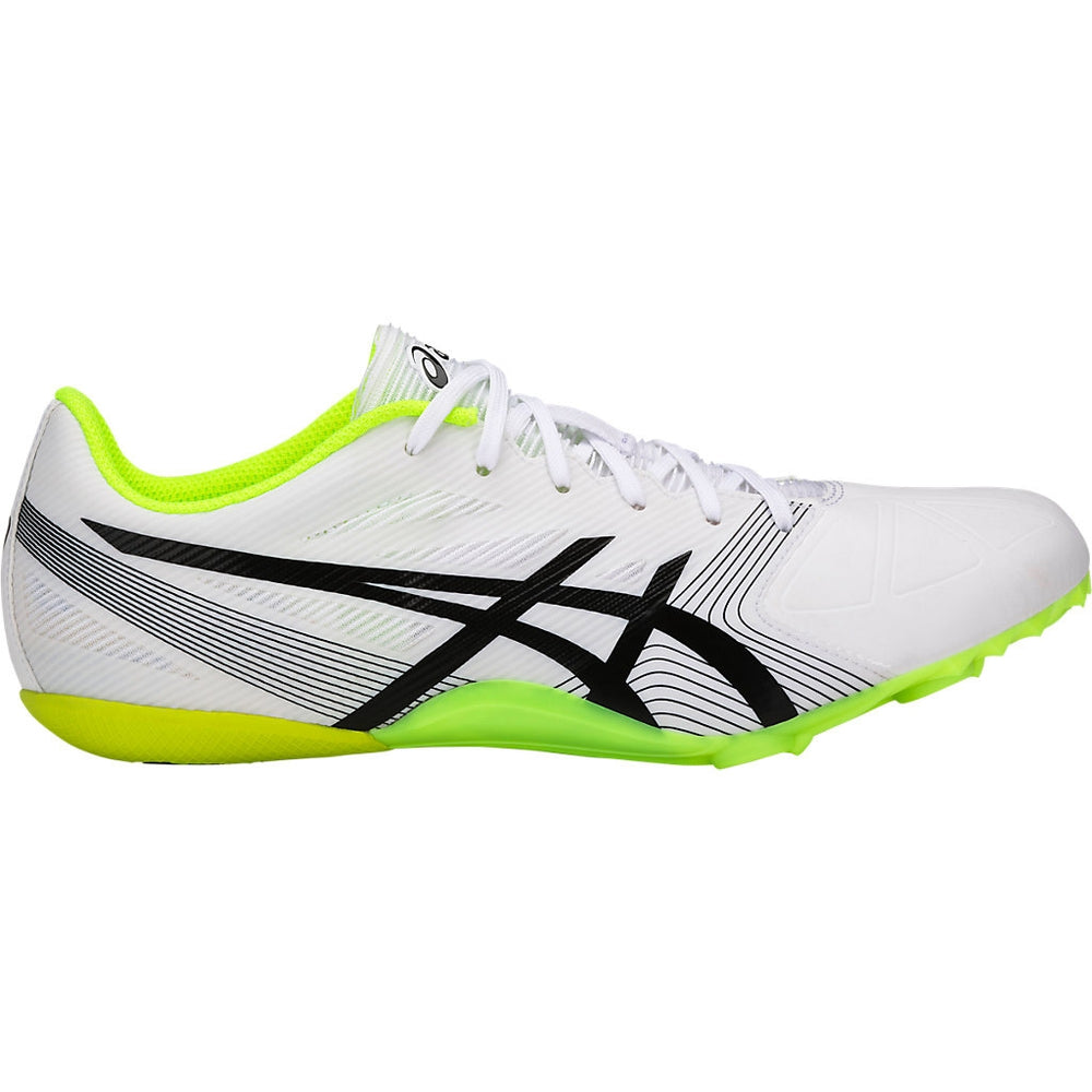 Asics Men's Hypersprint 6 Running Spikes White / Black / Safety Yellow