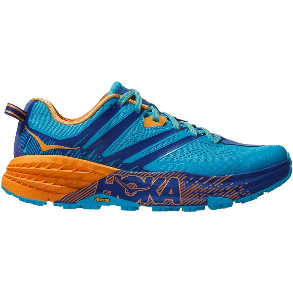 Hoka Women's Speedgoat 3 Trail Running Shoes Scuba Blue /  Sodalite Blue - achilles heel