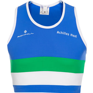 Victoria Park City Of Glasgow AC Crop Top Women's Blue - achilles heel
