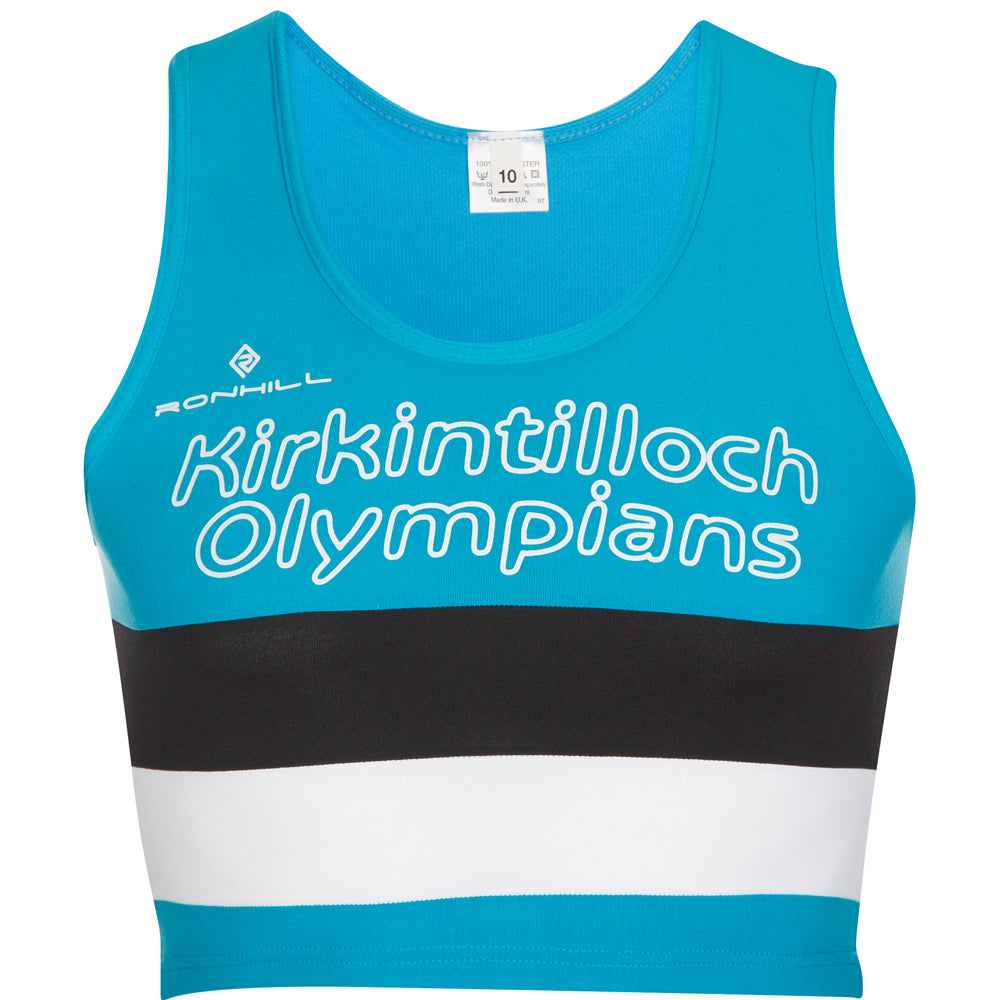 Kirkintilloch Olympians Crop Top Women's Blue - achilles heel