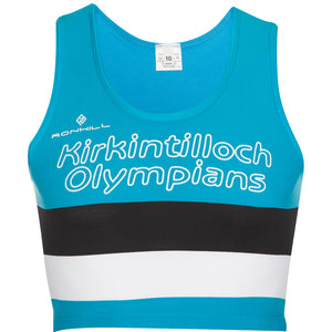 Kirkintilloch Olympians Crop Top Women's Blue