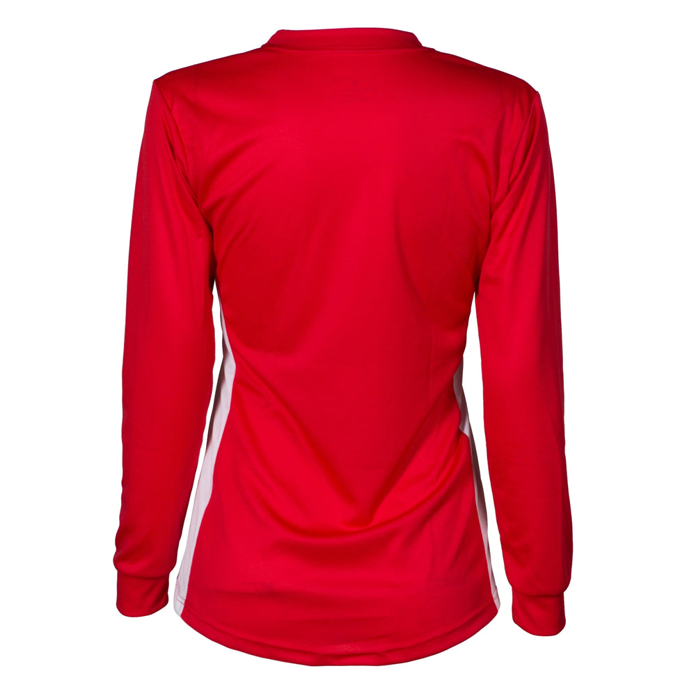 Cambuslang Harriers Women's LS Top Red & White - achilles heel