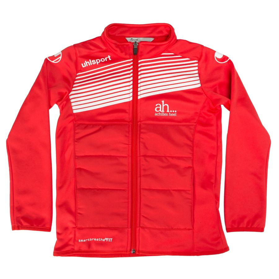 Cambuslang Harriers Kids Jacket Red & White - achilles heel