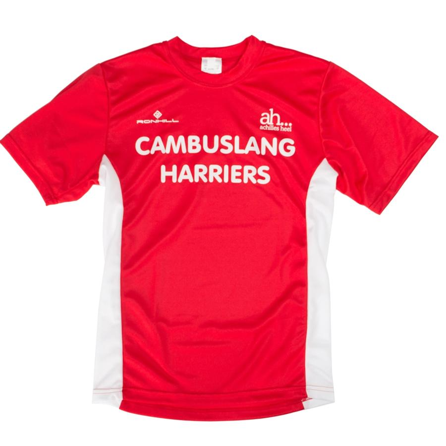 Cambuslang Harriers Kids Tee Red & White