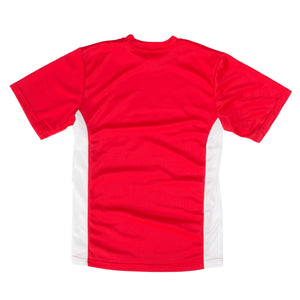 Cambuslang Harriers Kids Tee Red & White - achilles heel