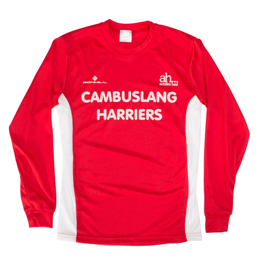 Cambuslang Harriers Kids LS Top Red & White