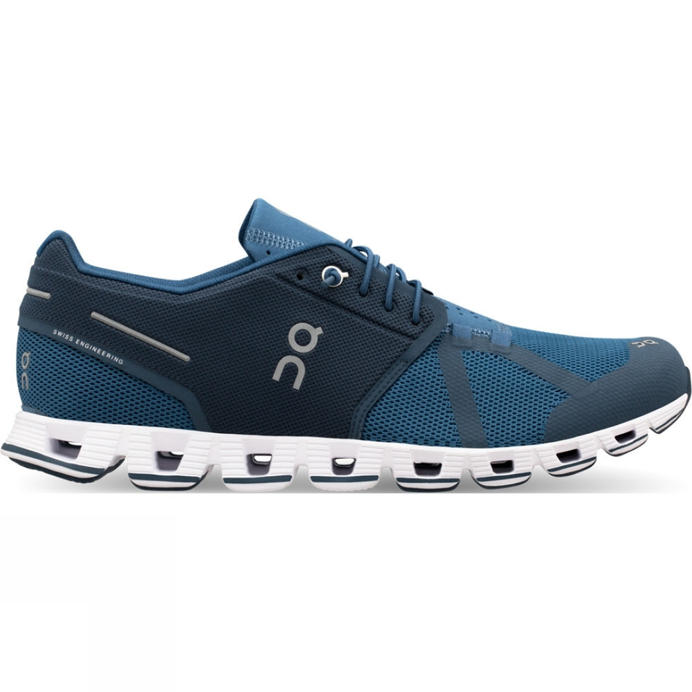 On Men's Cloud Running Shoes Blue Denim