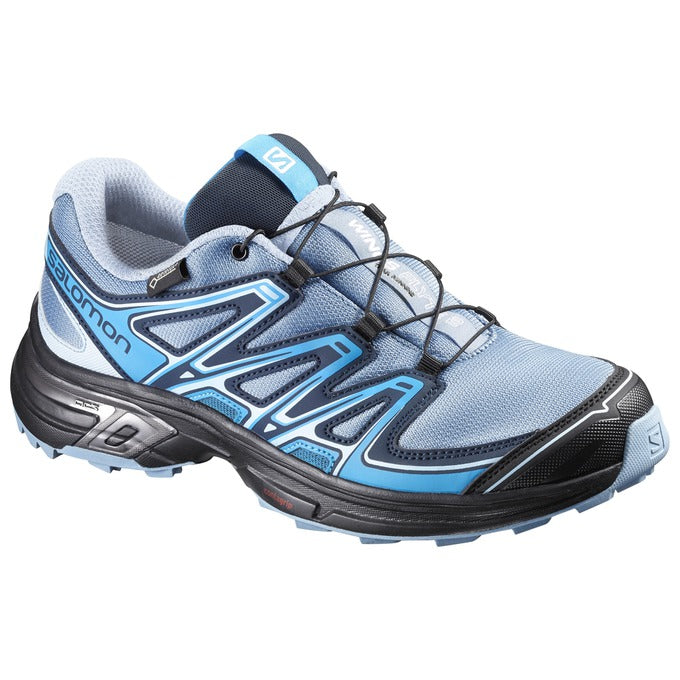 Salomon Wings Flyte GTX Women's Trail Running Shoes Windy Blue / Black / Blue Dream