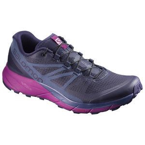 Salomon Women's Sense Ride Trail Running Shoes Evening Blue / Crown Blue / Grape Juice - achilles heel