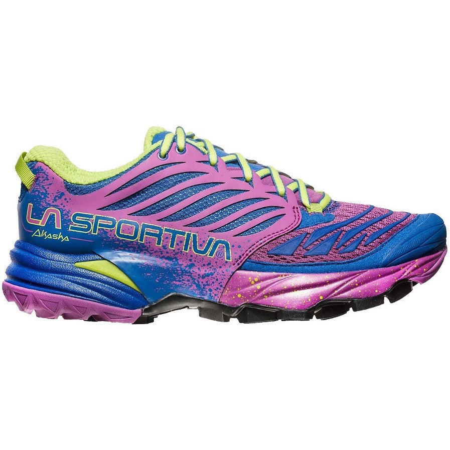 La Sportiva Women's Akasha Trail Running Shoes Marine Blue & Purple - achilles heel