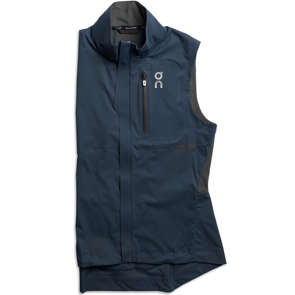 On Women's Weather Vest Navy & Shadow - achilles heel