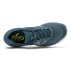 New Balance Men's 860v10 Running Shoes Supercell / Orion Blue / Sulphur Yellow - achilles heel