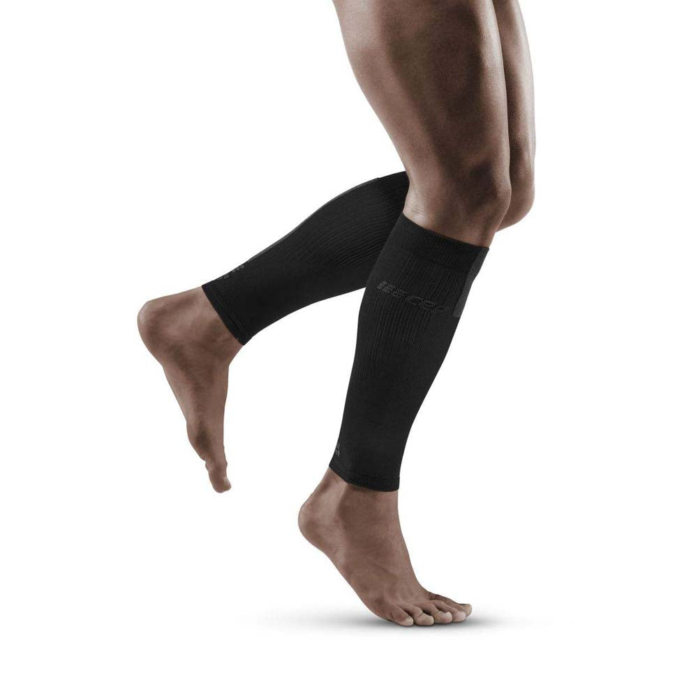 CEP Men's Compression Calf Sleeves 3.0 Black / Grey - achilles heel
