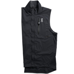 On Men's Weather Vest Black - achilles heel