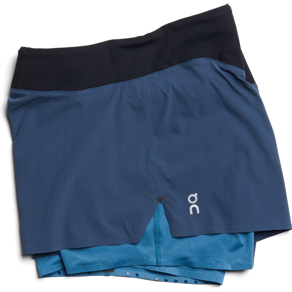 On Women's Running Shorts Navy / Storm - achilles heel