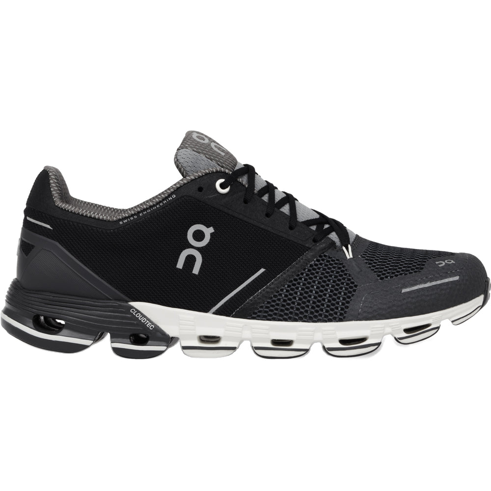 On Men's CloudFlyer Running Shoes Black & White