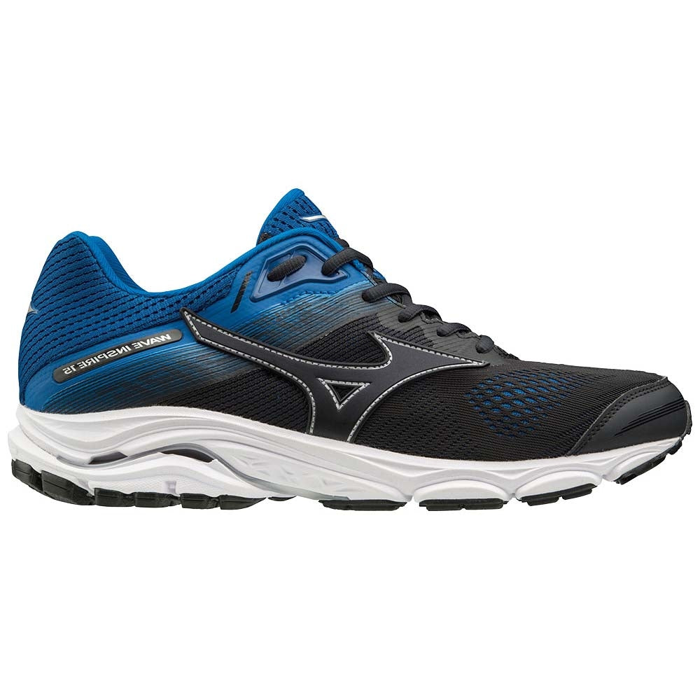 Mizuno Men's Wave Inspire 15 Running Shoes Graphite  /  Snorkel Blue